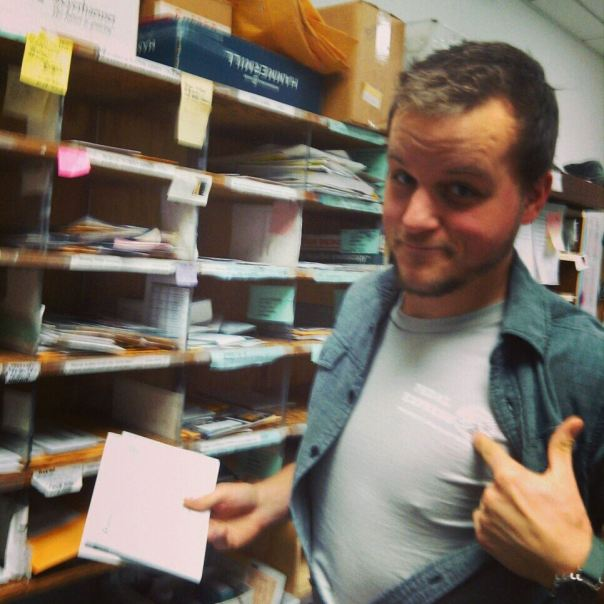 Nick, running the mailroom