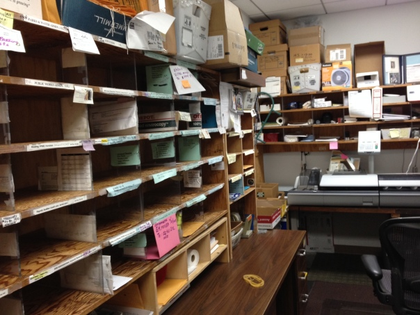 This is the Berkeley Mail Room