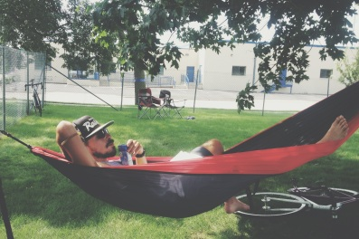 Sunday. Finals. I spent most of the afternoon in a hammock.