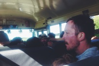 post-tubing bus ride.