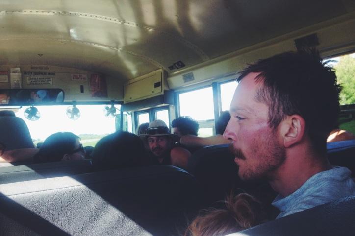 post-tubing bus ride.